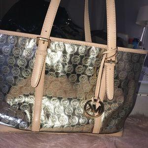 Handbags - Gold MK purse